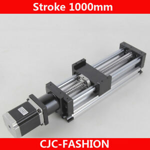 Ball Screw Linear Cnc Slide Stroke 1000mm Long Stage Actuator Stepper Motor Us