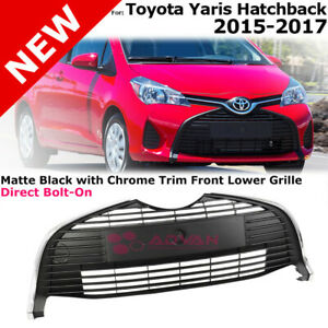 Front Lower Grille For 2015 2018 Toyota Yaris Hatchback Bottom Insert Unpainted