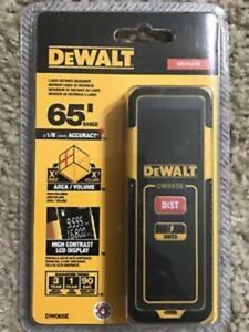 New Dewalt Dw065e Lightweight Laser Distance Measurer Tool 65ft Range