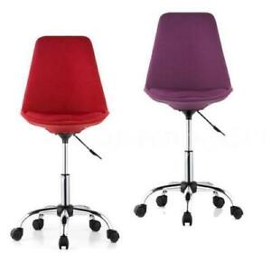 Home Office Chair Desk Computer Swivel Adjustable Study Shell Rolling Stool A3q5