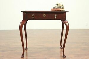 Antique George Ii Style Mahogany Tea Or Hall Table England 29206