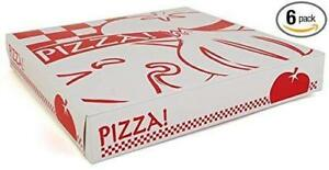 12 Clay Pizza Cardboard Corrugated To go Boxes 12 Count pack Of 6