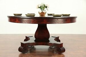 Empire Antique 5 Round Mahogany Dining Library Or Hall Center Table 29229