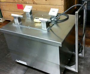 Glatt Lexco Stainless Steel Lift Table 2000 Lb 12 Volt Hydraulic On Wheels