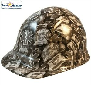 First Responder Hydro Dipped Cap Style Hard Hat With Ratchet Suspension