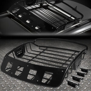 Universal Adjustable Heavy Duty Mild Steel Roof Cargo Basket Top Luggage Carrier