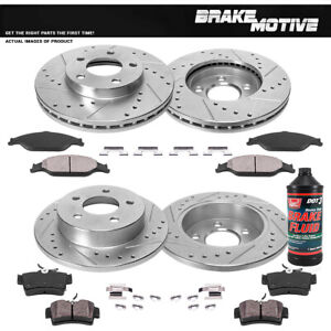 Front Rear Brake Rotors And Pads For 1999 2001 2002 2003 2004 Ford Mustang Sn95