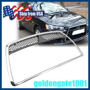 Us Chrome Front Bumper Center Grille For Mitsubishi Lancer De Es Sedan 2008 2011