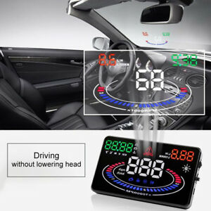 5 5 Obdii Obs2 Car Head Up Display Speed Warning Speedometer Projector Dc 9 16v
