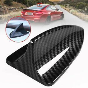 Universal Carbon Fiber Look Shark Fin Antenna Cover Radio Fm Am Aerial Trim