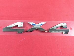 Dodge Ram 1500 2500 3500 Chrome 4x4 3d Nameplate New Oem Mopar