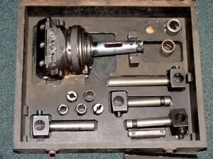 4 Taper 15 75 Dia Wohlhaupter Upa 4 s5 Boring Head Factory Box W accessories