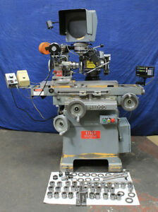 Hybco 1900 Machine W 2100sb Fixture Optical Comparator Tool Cutter Grinder