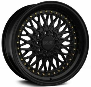 16x8 Xxr 536 4x100 114 3 20 Black Rims set Of 4