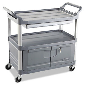 Rubbermaid Commercial Gray Three shelf Xtra Instrument Cart