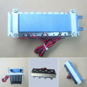 Quad core Thermoelectric Peltier Air Cooling Device Cooler 4 tec1 12706 Dc 12v