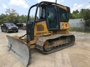 2012 John Deere 450j Lgp Crawler Dozer Cab Air Conditioning Winch 1 379 Hours