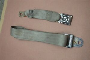 Rear Seat Belt Center Latches Buckles Lt Gray Pair Chevy Monte Carlo 1978 1988