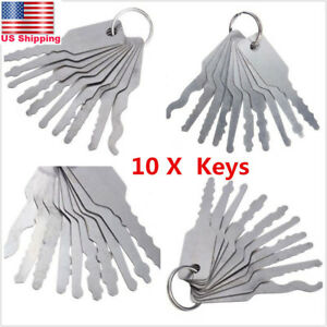 10x Universal Car Auto Lock Out Emergency Kit Door Open Easy Unlock Keys Tools