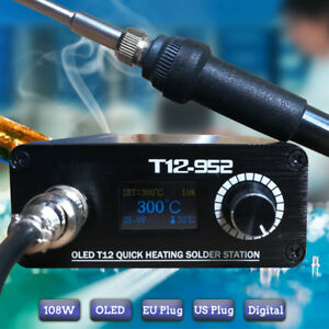 108w Stc T12 Oled Quick Heating Soldering Station Electronic Welding Iron
