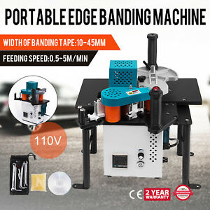 Woodworking Portable Edge Banding Machine 40mm Edge Dia 765w Total Bevel Newest
