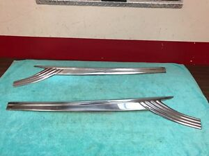 1956 Ford Fairlane Front Door Trim Lh Rh Pair Nos 818