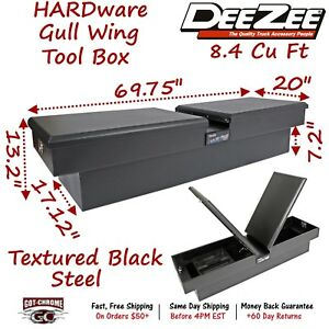 Dz8370sb Dee Zee Steel Truck Crossover Tool Box Gullwing Double Lid Black