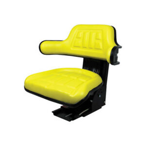 Yellow Waffle Style Suspension Seat For John Deere Tractor 5200 5210 5300 5310