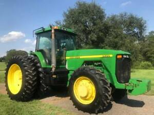 1998 John Deere 8400 Tractor 225 Horsepower 4wd Dual Rear Wheels Cab A c In Ms