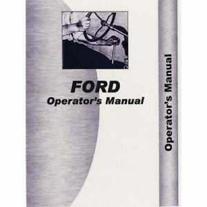 Operator s Manual 9600 Compatible With Ford 9600