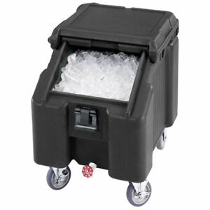 Cambro Ics100l110 Black Standard Slidinglid Ice Caddy 100 Lbs