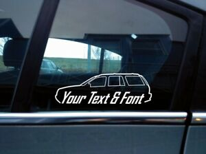 2x Custom Your Text Silhouette Sticker For Jeep Grand Cherokee Wj