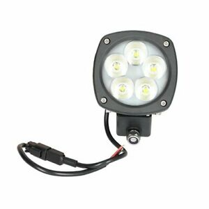Led Work Light 50w Semi Round Flood Beam Caterpillar John Deere Komatsu Gehl