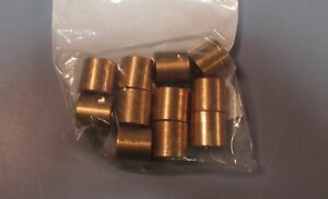 Lot 11 Bronze Sleeve Reducer Bushing 0 647 Long 0 316 Sm Id 0 468 Lg Id