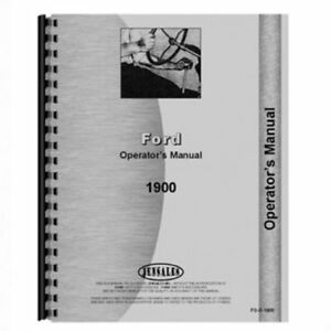 Operator s Manual 1900 Ford 1900