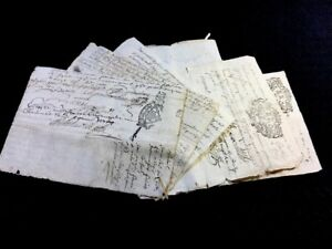 Collection Of Six Stamped Manuscripts 1700s