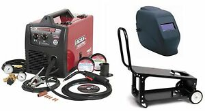 Lincoln Electric K2698 1hc Easymig 180 Welder With Adf Helmet And Cart new
