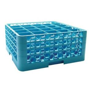 Carlisle Rg25 314 25 Compartment Opticlean Glass Rack With 3 Extenders