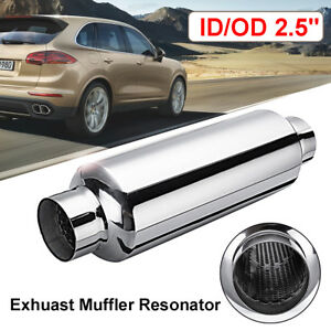 2 5 Universal Exhaust Turbine Performance Muffler Resonator Stainless Steel
