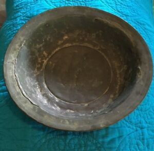18th Century Pewter Charger Bowl 9