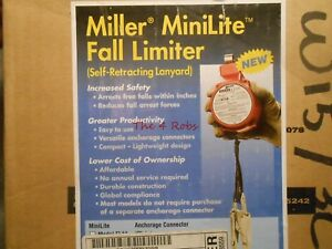 Miller Minilite Fl11 Fall Limiter With Self Retracting Lanyard New In Box 6 11ft