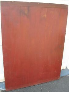 Antique Eye Catching Xxlg Bread Board Table Top W Baker End Handles Old Barn Red