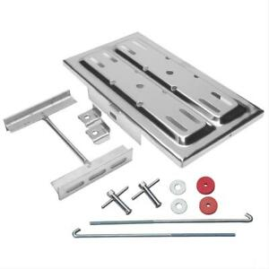 Universal Polished Stainless Steel Battery Tray W J Bolts 7 25 W X 13 125 L Kit