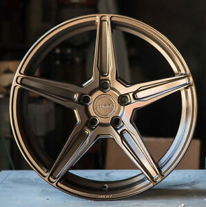 19 Mrr Fs05 Flow Forged Bronze Wheels Set 19x10 19x11 For Ford Mustang Rims