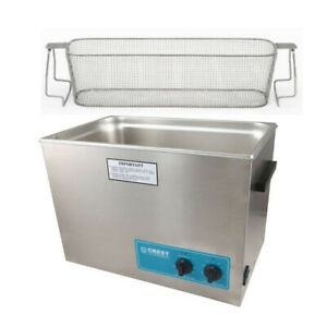 Crest P1800h 45 Ultrasonic Cleaner heat Timer perforated Basket