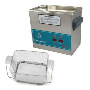Crest P230h 45 Ultrasonic Cleaner heat Timer perforated Basket