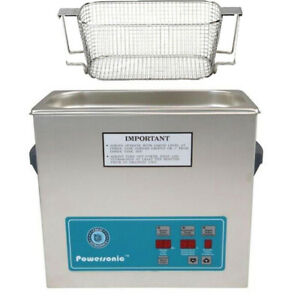 Crest P500d 45 Ultrasonic Cleaner W Power Control mesh Basket