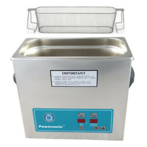 Crest P360h 45 Ultrasonic Cleaner heat Timer perforated Basket