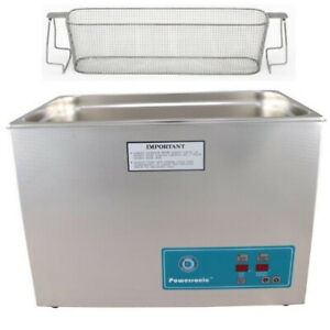Crest P2600h 45 Ultrasonic Cleaner heat Timer perforated Basket