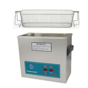 Crest P500h 45 Ultrasonic Cleaner heat Timer perforated Basket